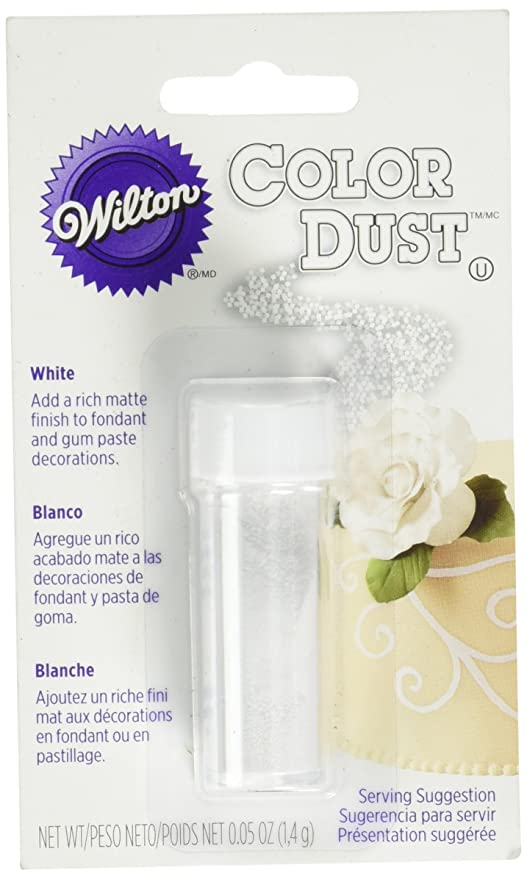 Wilton 703-100 Color Dust Food Decorative, White