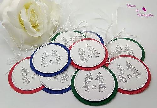 6 Tarjetas navideñas, etiquetas navideñas, etiquetas regalos ...