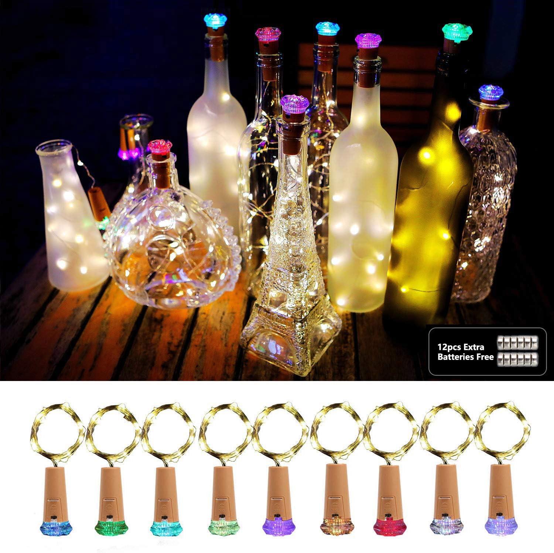 Luz de Botella, AOLUXLM 9x20 LED Lámpara de Botella, Alambre de ...