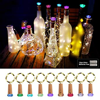Luz de Botella, AOLUXLM 9x20 LED Lámpara de Botella, Alambre de Cobre de Plata