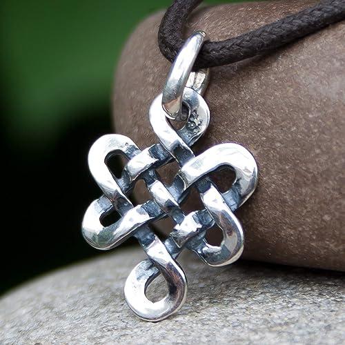 Auspicious Symbol Buddhist Jewelry Infinity Eternity Knot WYN18-0531J 1-50mm Tibetan Endless Knot Carved Bone Pendant Butterfly