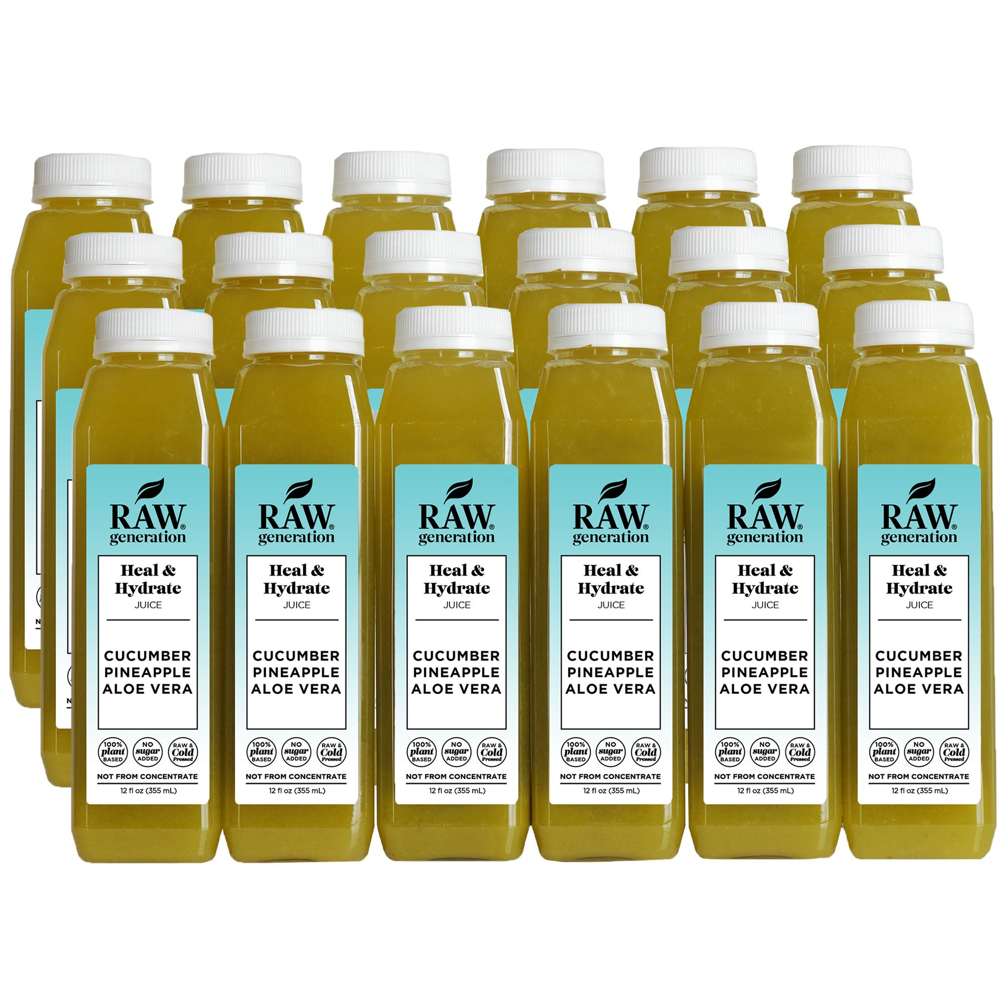 Raw Generation Heal & Hydrate Juice - Healthiest Way to Lose Weight & Stay Strong - Plant-Based Protein Smoothies & Juices - FREE Shipping (18)