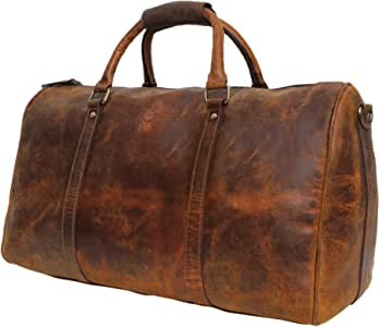 Handmade Leather Duffel Bags For Men - Airplane Underseat Carry On Luggage By Rustic Town