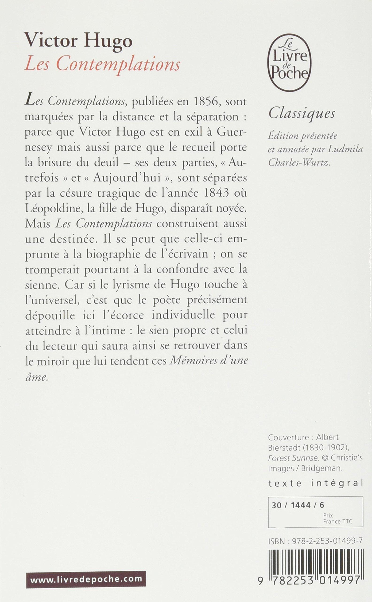 Les Contemplations Le Livre De Poche Amazones Victor