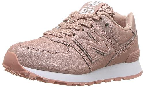 New Balance Girls' 574v1 Sneaker, Gold, 2.5 W US Little Kid
