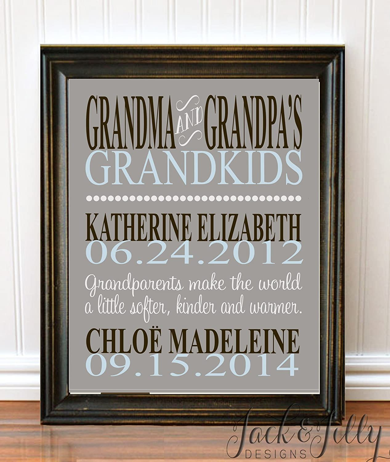 Amazon.com: Mother's Day Gift - PERSONALIZED GRANDPARENT PRINT ...