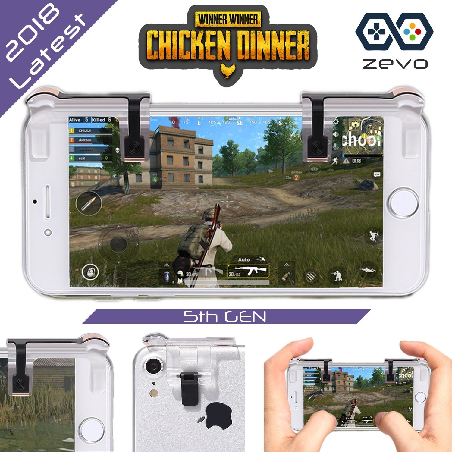 Pubg Mobile Game Controller L1 R1 Fortnite Stick Pad Knives Out Rules Survival Joystick Sensitive Shoot Aim Buttons Triggers Android Iphone Ios
