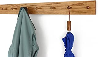 product image for Solid Oak Xtra-Wide Shaker Peg Rack -Made in The USA - Golden Oak Stain 41 x 4.5 Inches with 7 Pegs