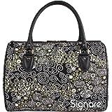Signare Tapestry Travel Weekend Overnight Bag in Gustav Klimt (Kiss) Design