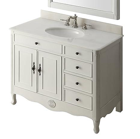 38 Benton Collection Distressed White Daleville Bathroom