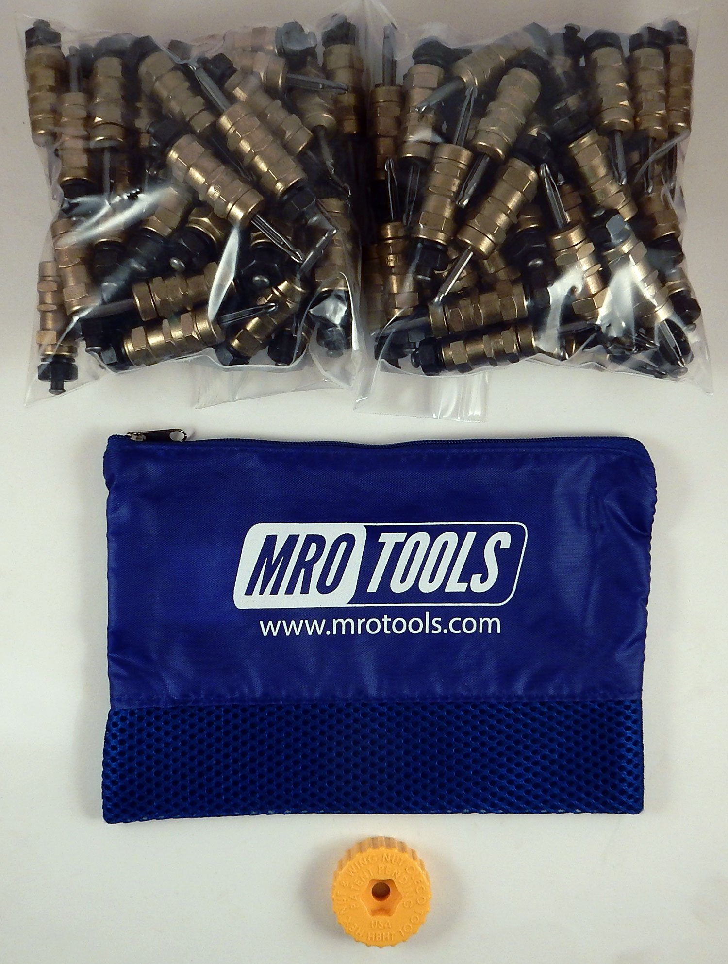100 3/16 Standard Hex-Nut Cleco Fasteners w/ HBHT Tool & Carry Bag (KHN1S100-3/16) by MRO Tools Cleco Fasteners