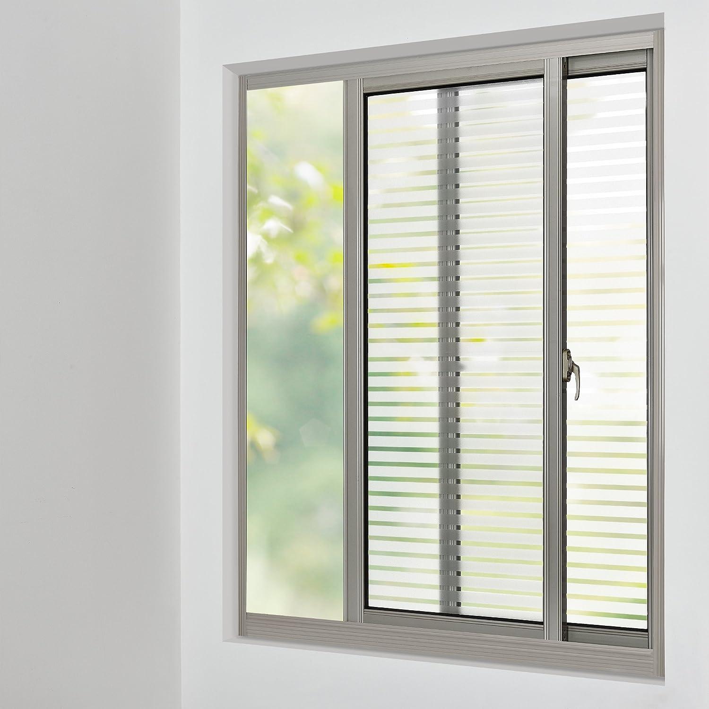 Schön Sichtschutz Für Fenster Dekoration Von [casa.pro] Sichtschutzfolie Für Gestreift - Statisch Haftend