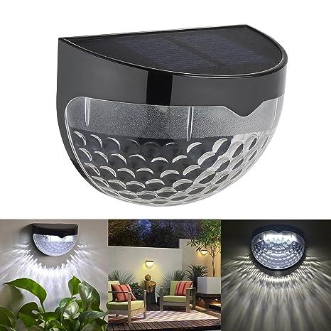 Edited 4 pieza resistente al agua LED Lámpara solar jardín lámpara solar lámpara con 6 LED