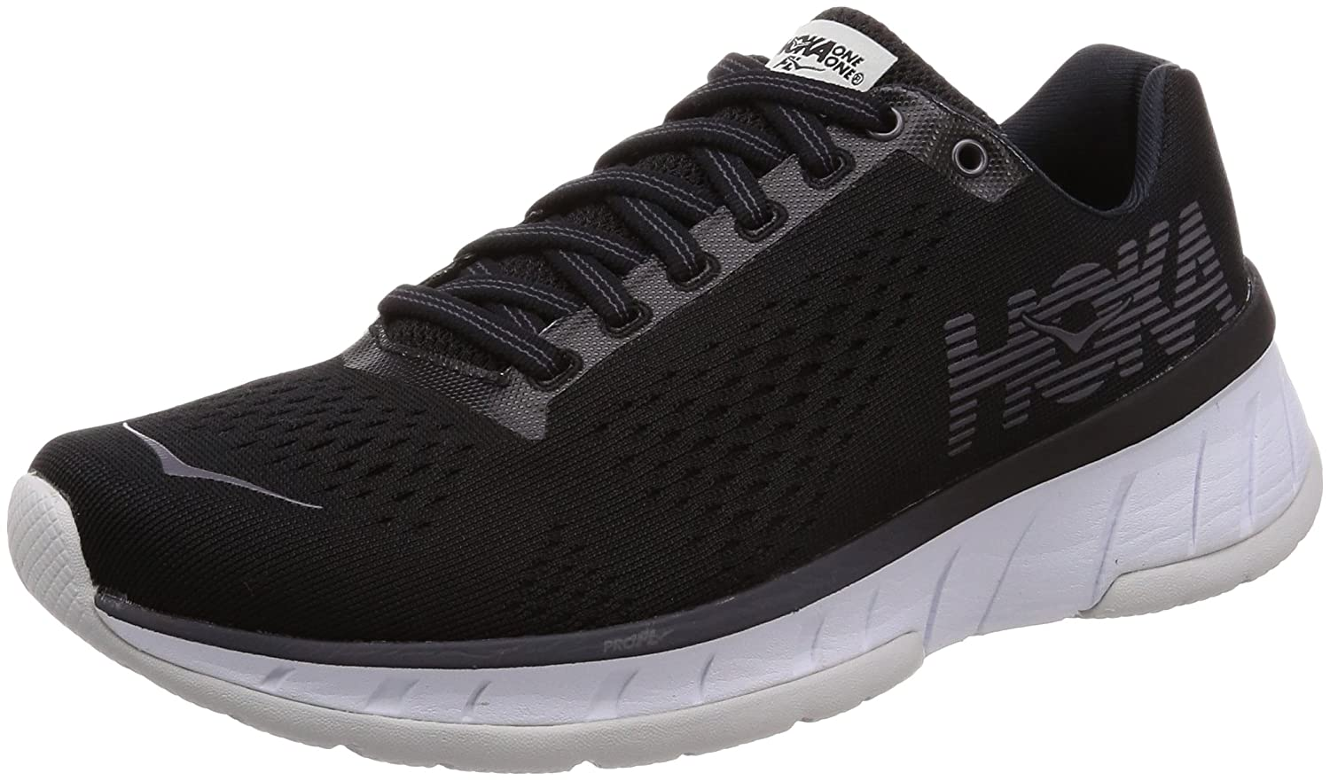 HOKA ONE ONE Women's Cavu Running Shoe B071VVNZJJ 6 B(M) US|Black/White