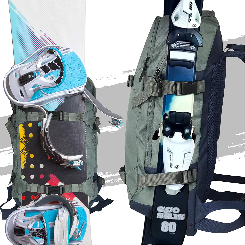Ski- und Snowboard-Rucksack mit Riemen f/ür Ski- und Snowboards Wasserabweisendes Material perfekt f/ür Ski- und Snowboardausfl/üge 27 Liter Fassungsverm/ögen