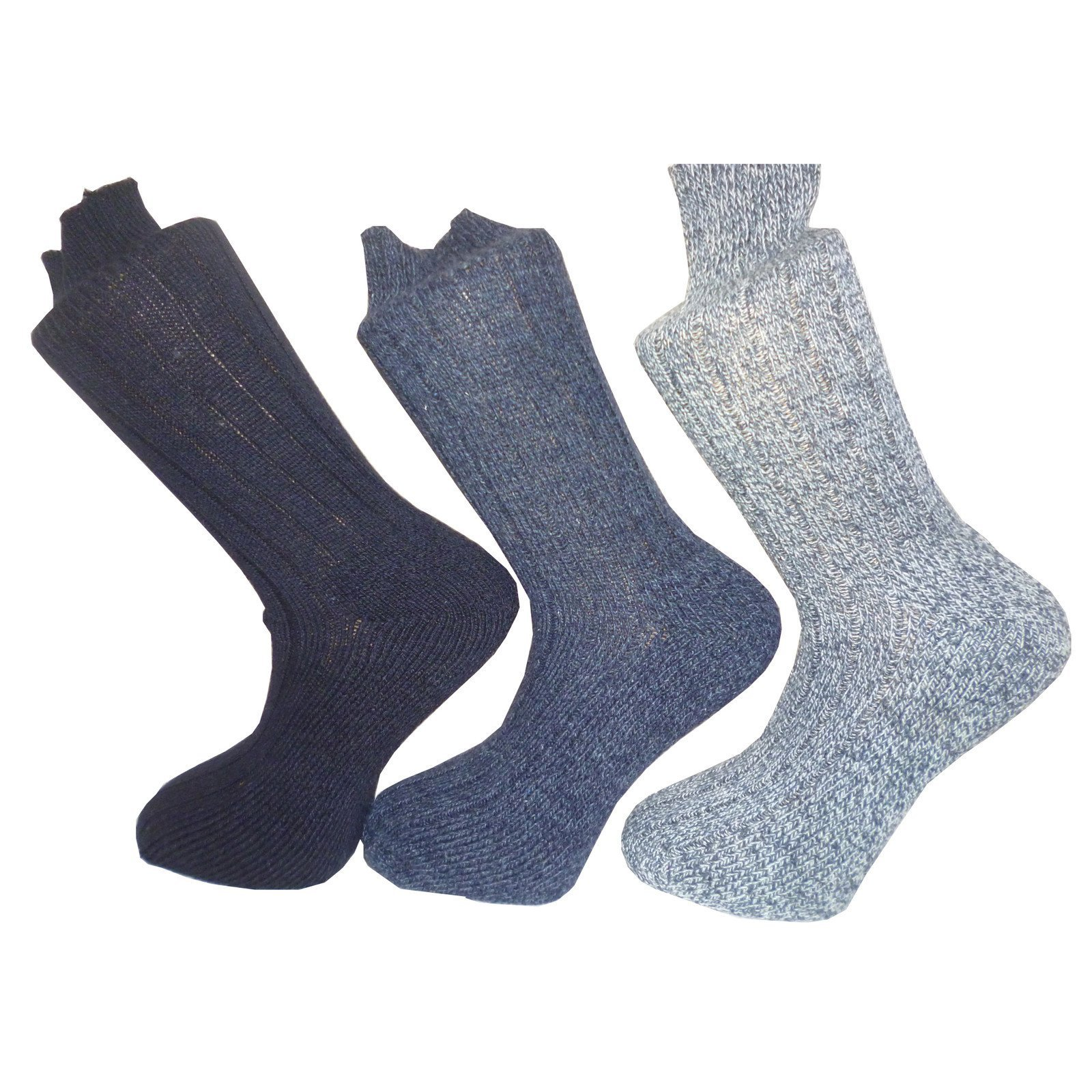 3 pairs mens padded sole wool mix boot socks003.JPG