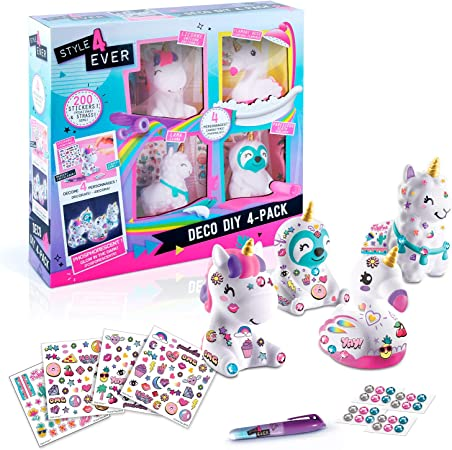 Canal Toys 177-Loisirs Créatifs-Style For Ever Lama, Licorne, Color Deco DIY x 4 (OFG 177): Amazon.es: Juguetes y juegos