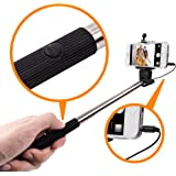 Selfie Stick For All Smart Phones & Iphones - Selfie Stick With Soft Grip for Mobile Safety (Colour may vary)