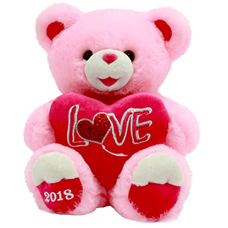 Amazon valentines day gift plush teddy bear 2018 pink love valentines day gift plush teddy bear 2018 pink love altavistaventures Images