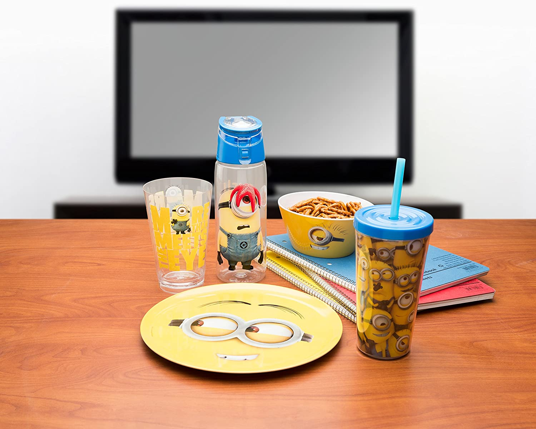 Nickelodeon JOJA-S830-AMZ Jojo Siwa Water Bottles Tritan Straw Blue