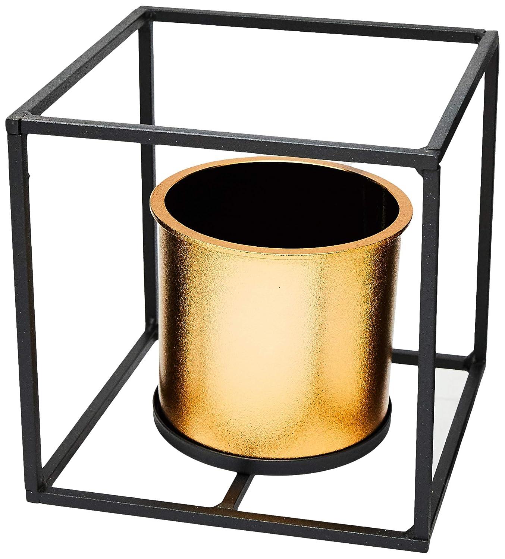 Vaso Metal/Plástico Geo Forms Quadrado Urban Cobre