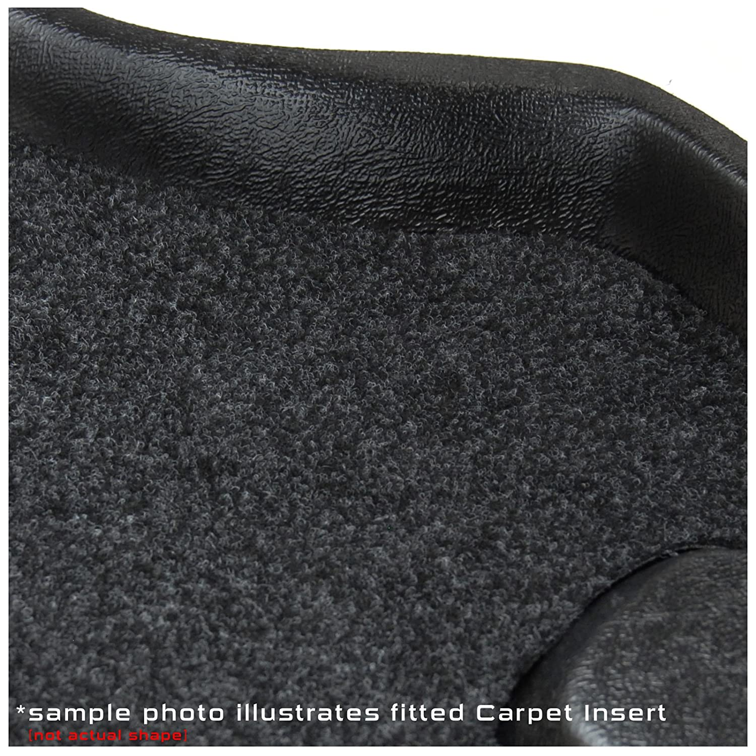 Tray Mat Fully Tailored PVC Boot Liner FREE Charcoal Velour Carpet Insert