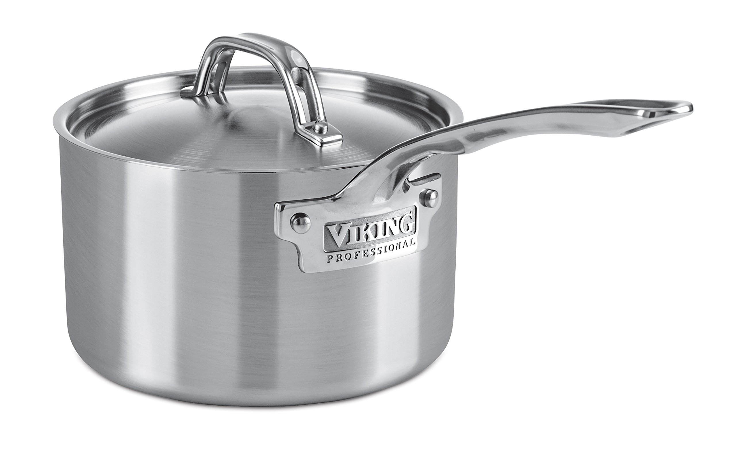 Viking Professional 5-Ply Stainless Steel Saucepan, 3 Quart