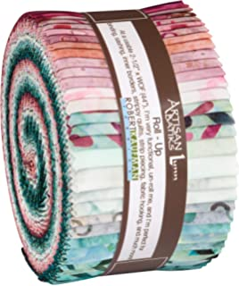 Lunn Studios Artisan Batiks Impressions of Tuscany 2 Roll Up 40 2.5-inch Strips Robert Kaufman