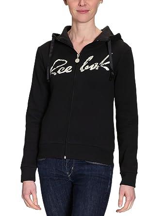 Reebok - Sudadera para mujer, tamaño XS, color negro