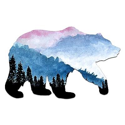 "Northern Dock Bear Vinyl Decal Outdoor Adventure Mountain Bear Bumper Sticker (5"" Wide): Kitchen & Dining"