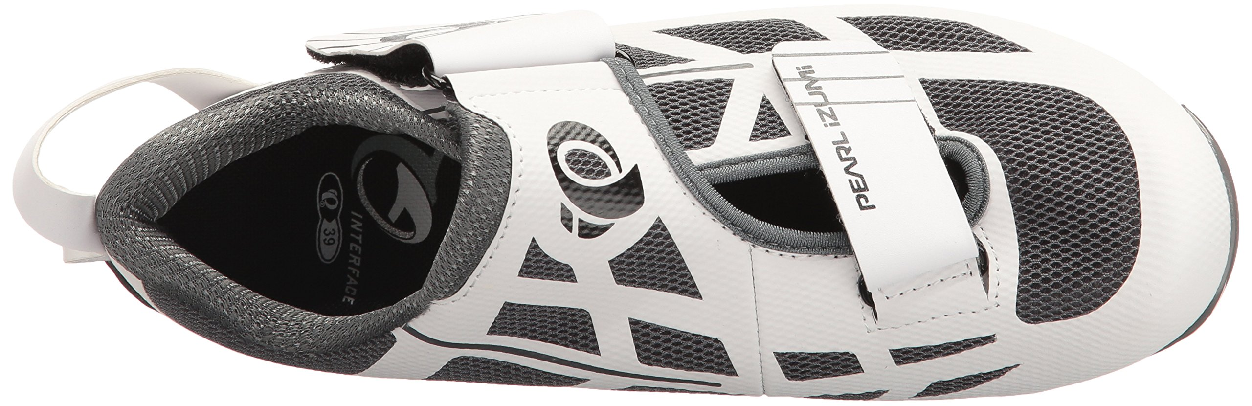 Pearl iZUMi Women's W Tri Fly Select V6 Cycling Shoe, White/Shadow Grey, 42 EU/10 B US by Pearl iZUMi (Image #8)
