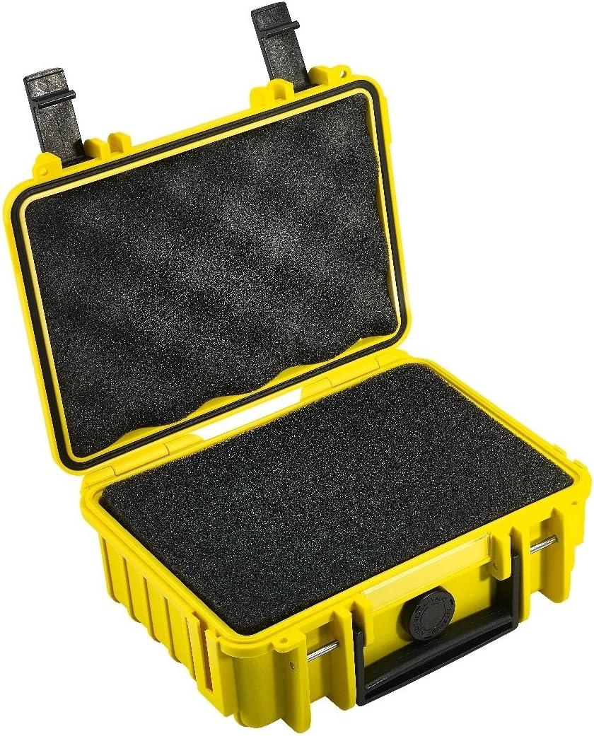 B&W International Type 500 Outdoor - Maletín para cámara (con Espuma), Amarillo