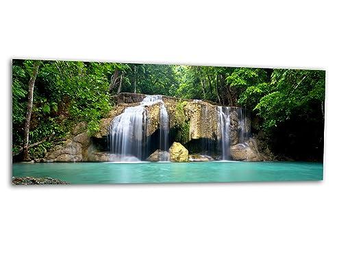 Xxl Glasbild Ag312500527 Mural Wasserfall Lagune 125 X 50 Cm