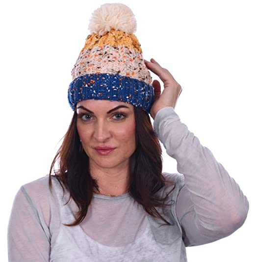b60e625acd70e Amazon.com  Polar Extreme Women s Insulated Thermal Old Fashion Knit Beanie  3 Great Patterns (Old Fashion 2)  Home   Kitchen