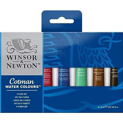 Winsor & Newton Cotman - Juego de tubos de pintura para acuarela (8 ml, 6 unidades)