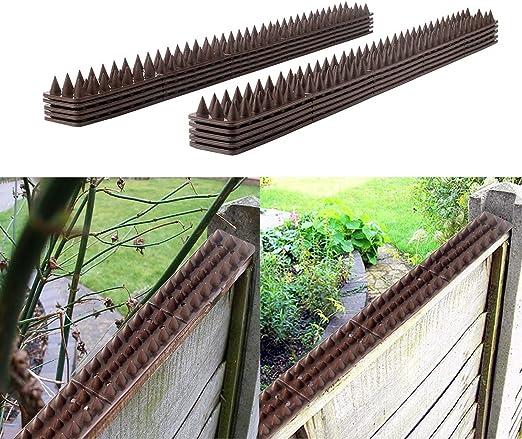 AYITOO 50 pcs Control de Aves, Anti Escalada Gato pájaro Humanos Valla Pared Windowsill Puertas Vertientes Espigas 49 x 4, 5 x 1, 7 cm: Amazon.es: Jardín