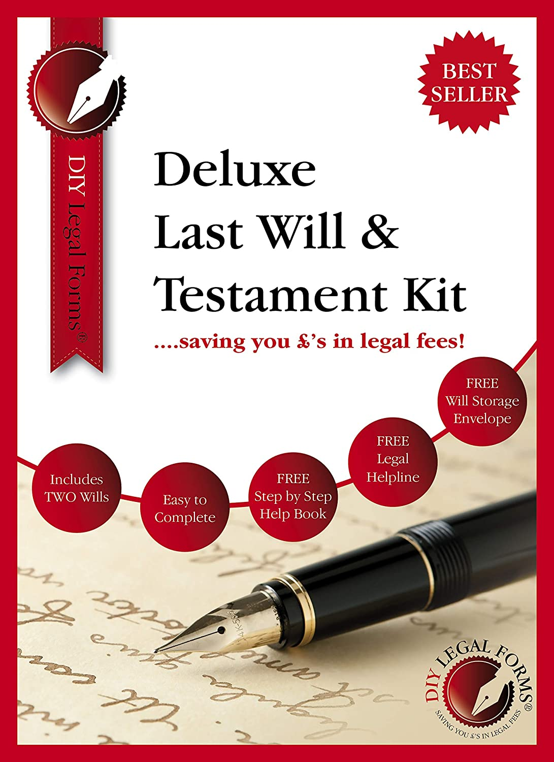 Last Will and Testament Kit 2019-20 UK, DELUXE Edition, Suitable for up to  TWO people, brand new and sealed  Solicitor approved