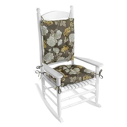 Bon Outdoor Rocking Chair Cushion Set (Vivienne Floral Gray)