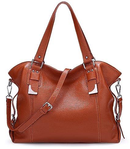 70b1ebb5681e5 Big Sale-AINIMOER Womens Leather Vintage Shoulder Bag Ladies Handbags Large  Tote Top-Handle Purse Cross Body Bags(Sorrel): Amazon.co.uk: Luggage