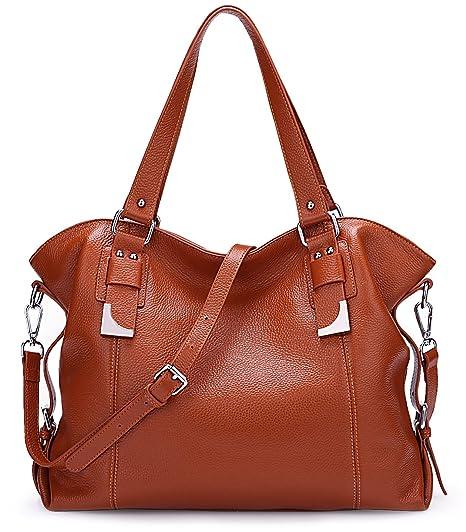 7c6e130bcc2f Big Sale-AINIMOER Womens Leather Vintage Shoulder Bag Ladies Handbags Large  Tote Top-Handle Purse Cross Body Bags(Sorrel)  Amazon.co.uk  Luggage