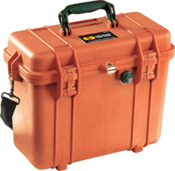 Orange Pelican 1430 Camera Case With Foam
