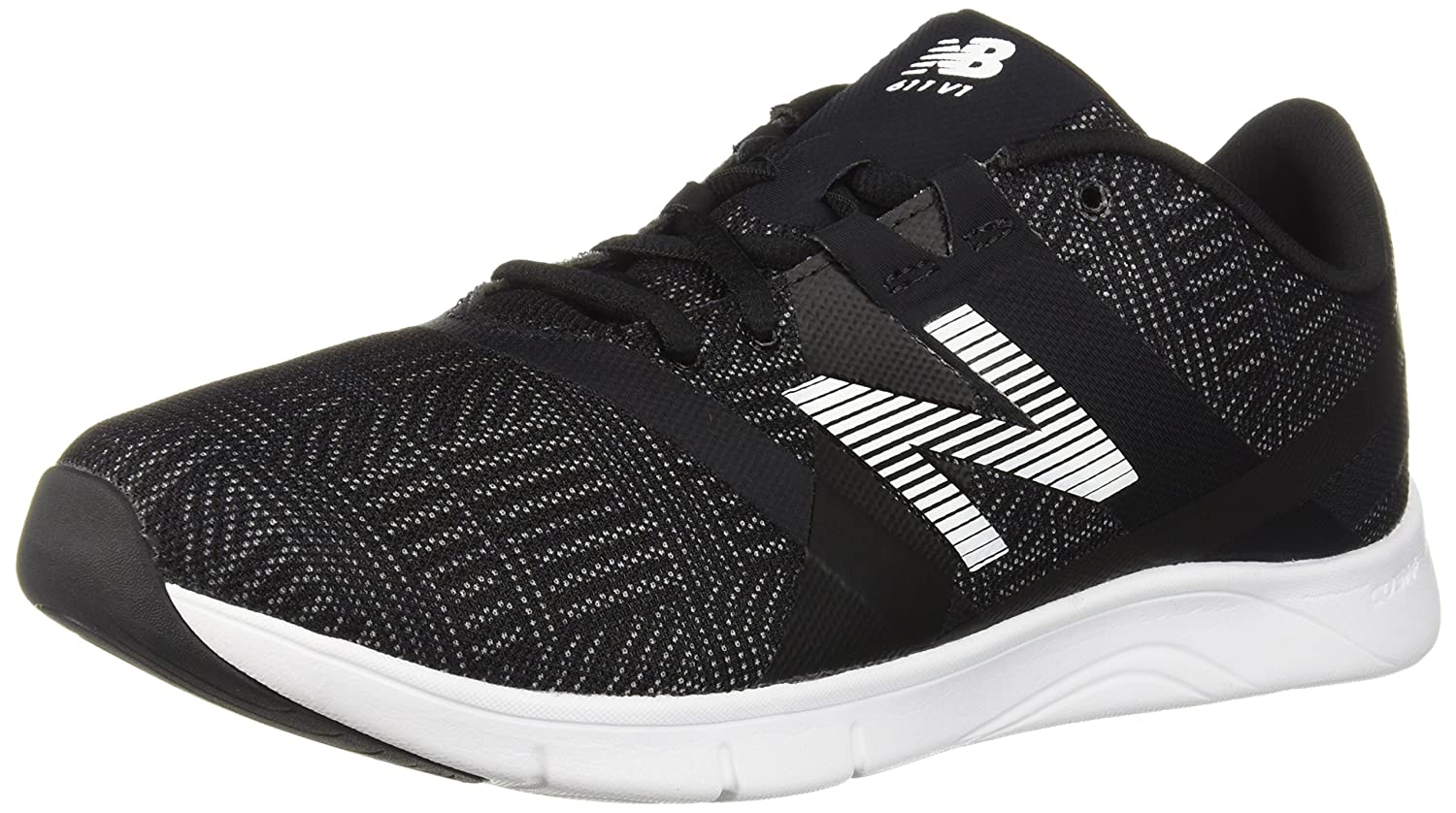 New Balance Women's 611v1 Cross Trainer B0751GPZ2Q 7.5 B(M) US|Black/White