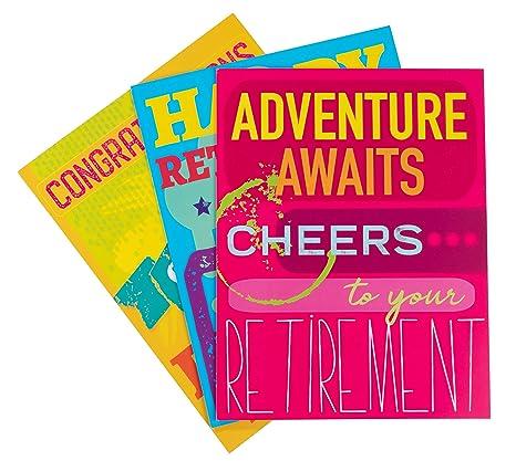 Tarjetas de jubilación grandes, paquete de 3 tarjetas de ...