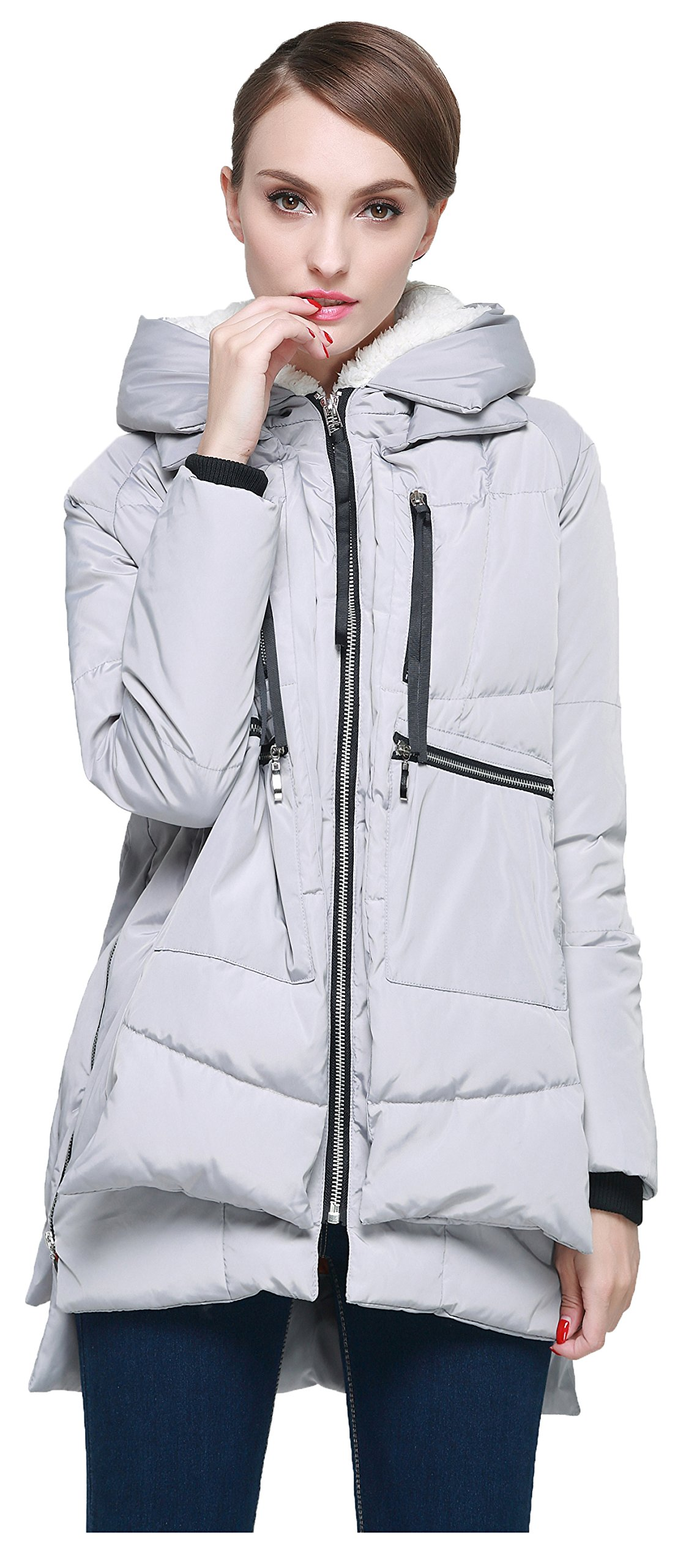 Orolay Women's Thickened Down Jacket (M, Gray)