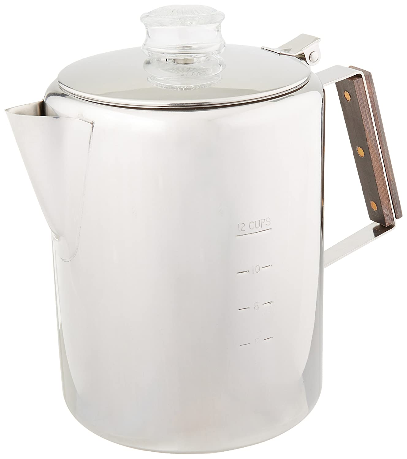 Tops Rapid Brew Stainless Steel Percolator, 2-12 Cup WalterDrake 409