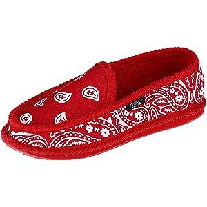Trooper America Mens Bandana Print Slip On Slipper Shoe