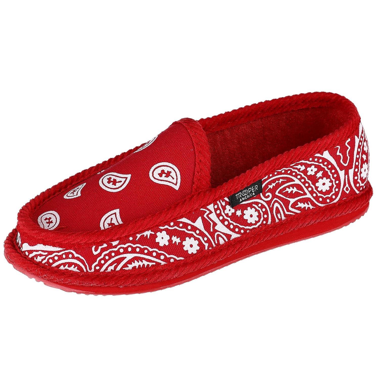 438407416ea76 Trooper America Men's Bandana Print Slip On Slipper Shoe