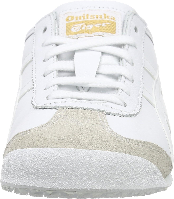 Onistuka Tiger Mexico 66, Sneakers Basses Mixte adulte Blanc White White 0101