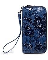 LOVEME Women Double Zipper Wallets Hangbag Bank Card Cash Package