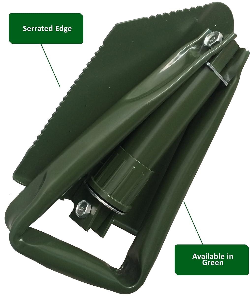 NATO Emergency Military Grade Shovel use it as a garden or snow foldable spade - 365 Day Guarantee (Black)